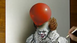 clown balloon l pennywise the it clown drawing