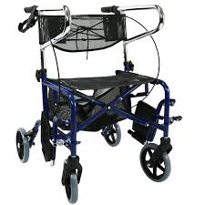 Transport Walker Chair Rollator Wheelchair Walker Transit Chair Transport Mobility Aid