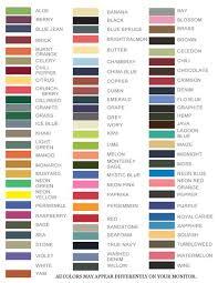 Comfort Colors Shirts Comfort Colors T Shirt Chart Tee Colors Craft Ideas