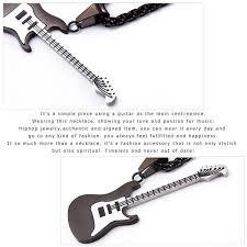 stainless steel guitar necklace images 18k gold plated enamel gold rock guitar pendant necklace men u7 jpg