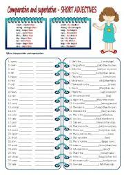 english exercises comparatives long and short
