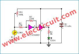 automatic led night light switch u2013 electronic projects circuits