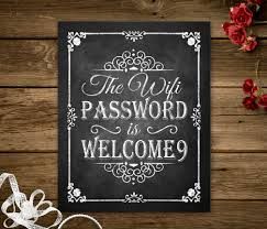 wifi password printable chalkboard sign home decoration wifi