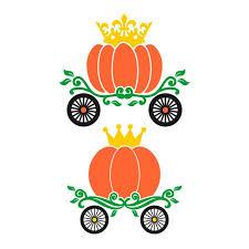 Pumpkin Carriage Pumpkin Carriage Cuttable Design