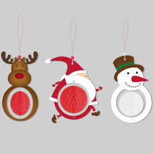 6pcs christmas decoration the santa claus snowman deer honeycombs