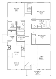 Small Floor Plans Cabins Floor Plan For A Small House 1 150 Sf With 3 Bedrooms And 2 Baths