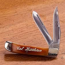 personalized pocket knife personalized pocket knife gift col littleton no 12 knife orvis