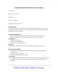 Sample Objective For Teacher Resume by Curriculum Vitae Cv For English Teacher Sample Cv Curriculum