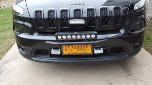 jeep light bar grill updated mini bull bar led light bar bracket 2014 jeep cherokee