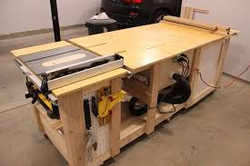 Work Bench Table Tablesaw Router Fliptop Mitersaw Dust Collection Workbench By