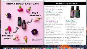 Doterra February 2017 Product Of The Month Doterra Friday Bogo July 21 2017 Youtube