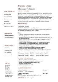 Pharmacy Resume Examples by Pharmacy Technician Resume Examples