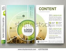 circle layout vector brochure design template vector flyers report business infographic