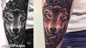 Wolf Indian Tattoos - indian wolf
