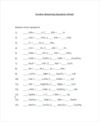 best ideas of balancing equations worksheets with letter template