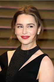 Vanity Fair On Line Emilia Clarke 2014 Vanity Fair Oscar Party Black Cutout Backless