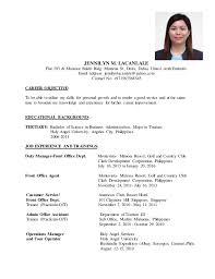 sle resume format for ojt tourism students quotes sle resume tourism graduate templates