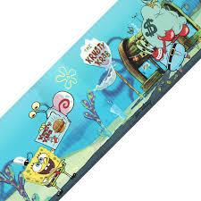 spongebob squarepants krusty krab prepasted wallpaper border