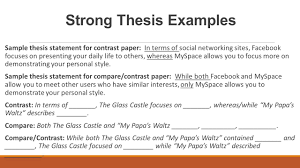 Style Analysis Essay Example Comparison And Contrast Essays Examples Compare Contrast Essay