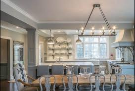 Linear Chandelier Dining Room Dining Room With Hanging Linear Chandelier Lighting Stunning
