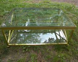 Brass Glass Coffee Table Brass Coffee Table Etsy