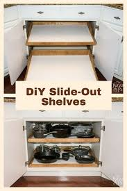 roll out shelves for kitchen cabinets diy pull out pantry cabinet shelves kitchen storage wood shelving