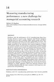 measuring manufacturing performance a new challenge for