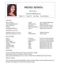 Ucf Resume Resume U2014 Nicole Acosta