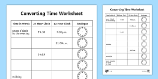 time conversions worksheet free worksheets library download and