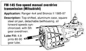 1986 ford ranger transmission ford ranger manual transmissions at the ranger station