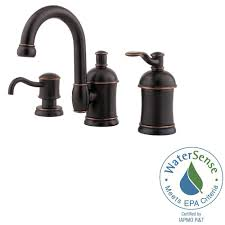 pfister ladera 8 in widespread 2 handle bathroom faucet in tuscan