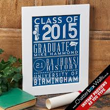 personalized graduation gifts personalized typographic prints canvases for gifts