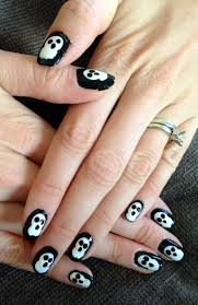 halloween month 2013 tutorial ghosts nails for nickels