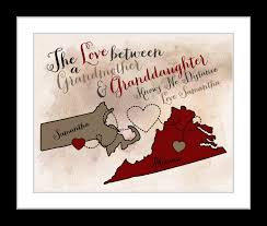 personalized granddaughter gifts gift for personalized maps grandparents great grandmother