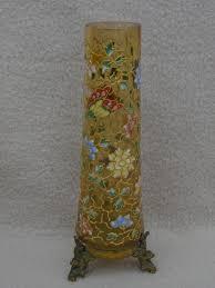 Victorian Glass Vase Antique Victorian Bohemian Harrach Moser Amber Glass Vase