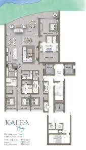 contemporary resort floor plan residence kalea bay luxury waterfront condominiums