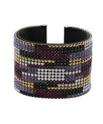cuff bracelet black images Swarovski pink purple black crystal cuff bracelet leprix JPG