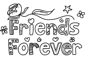 coloring pages friends friends forever coloring page az coloring
