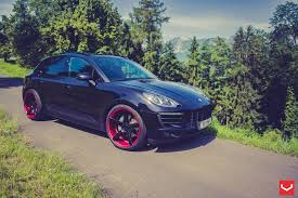 Porsche Macan Black Wheels - vossen wheels porsche macan vossen cv3r