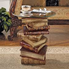 Power Of Books Sculptural Glass Topped Side Table Ng32069 Design