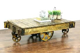 Rustic Coffee Table With Wheels Coffee Table With Wheels Ikea Beaconinstitute Info