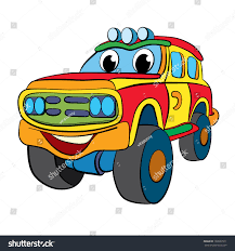 car jeep color cartoon merry car jeep stock vector 168507911 shutterstock