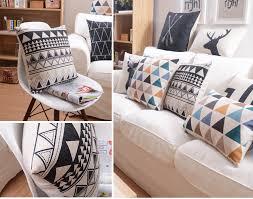 online shop nordic simply geometric pillow home decor cushion