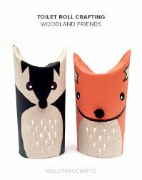 mollymoocrafts toilet roll crafts woodland friends
