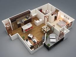 appartement 1 chambre 50 plans en 3d d appartement avec 1 chambres house tiny houses