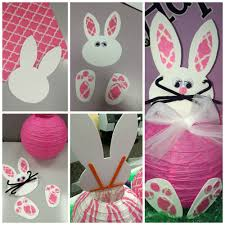 Spring Decoration diy spring decorations paper bunny lantern