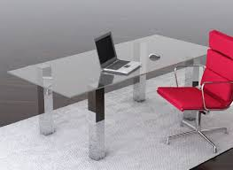 Modern Glass Office Desks Excellent Modern Glass Office Desks Safarihomedecor Intended For