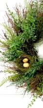 spring wreath spring home decor fern wreath summer