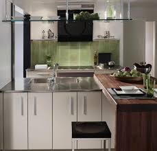 a stainless steel kitchen countertop or stainless steel backsplash