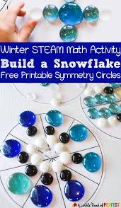 build a snowflake symmetry math activity and free printable